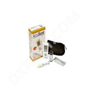 AccuSure GOLD Glucometer (White)