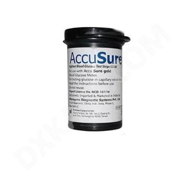 AccuSure Gold 25 Glucometer Strips