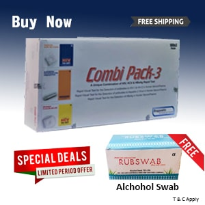 100pcs Alcohol Swab Free with Combi-Pack 3.